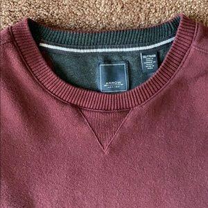 Men's Arrow Burgundy Long Sleeved Fleece Shirt XXL